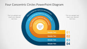Four Concentric Circles Powerpoint Diagram Powerpoint