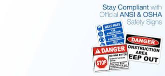 Ansi Z535 Color Chart Ansi Z535 Safety Headers Safetysign Com