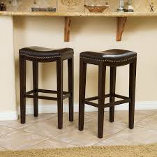 leather bar stools with backs. Great Deal Furniture Jaeden | Backless Faux Leather Bar Stools With Studded Accents Set Of Backs