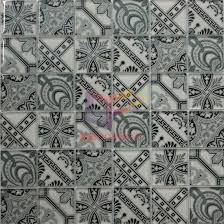 grey color ink jet process made glass mosaic tile for bathroom cfc657