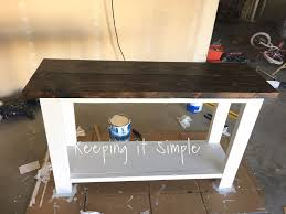 diy sofa table for only 30