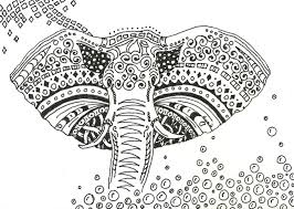 Easy Elephant Mandala Coloring Pages