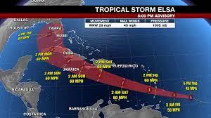 Hurricane Elsa now tropical storm