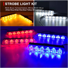 Blue Light Grill Us 12 69 54 Off 2pcs 6 Led Front Grill Strobe Lights Bar White Yellow Red Blue Car Police Flash Light Emergency Warning Flashing Fog Lights 12v In