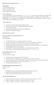 Bank Branch Manager Resume Best Resume For Personal Banker Banking Resume Example Bank Manager