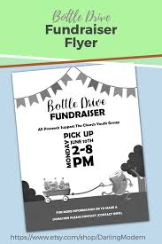 How To Make A Digital Flyer Editable Bottle Drive Fundraiser Benefit Flyer Poster