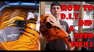 hydro dipping deer skull dipping in spray paint diy at home