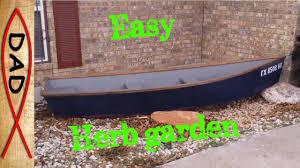 row boat herb garden planter