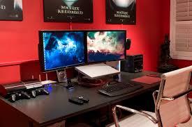 stylish office desk setup. Stylish Computer Desk Setup Ideas With Gaming Minimalistic Yet Clean Layout Multiple Office A