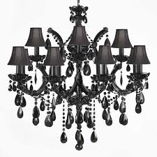 black crystal lighting. Click To Enlarge JET BLACK CRYSTAL CHANDELIER. Black Crystal Lighting