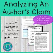 Authors Claim Worksheets Teaching Resources Tpt