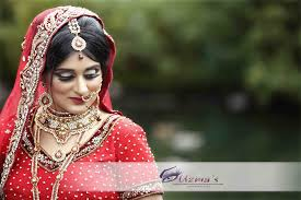 asian bride on her wedding day in uk