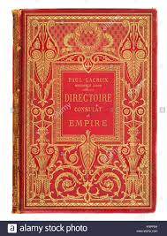 victorian book cover for paul lacroix directoire consulat et empire stock image