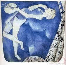 the painter to the moon 1917 painting marc chagall the painter to the moon 1917