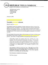 Gallery Of Title Insurance Claim Letter Sample