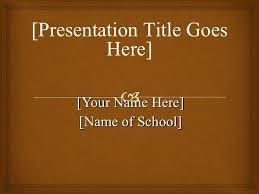 Apa Style Title Page Example Apa Template Powerpoint
