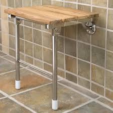 teak folding shower seat with legs bathroom in fold down shower seat the best fold down