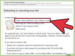Ein Gebot Auf Ebay Zurücknehmen Wikihow