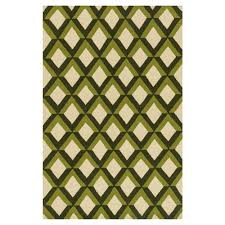 sheela modern forest green trellis outdoor rug 3 6x5 6 kathy kuo home