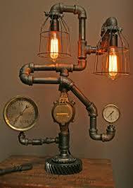steampunk lighting fixtures. modren lighting lampinspiring grey round industrial iron steampunk lamp varnished design  amazing steampunk lamp ideas inside lighting fixtures