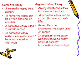 difference between essays narrative essay