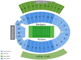 Camp Randall Student Section Seating Chart Camp Randall Stadium Seating Chart And Tickets Formerly