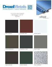 Standing Seam Roof Color Chart Color Cards Drexel Metals