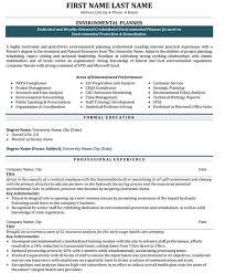 Environmental Protection Professional  Environmental Planner Professional