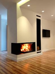 wood burning fireplace insert corner