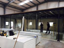 office mezzanine floor. Offices Being Built Underneath The Mezzanine Floor. Office Floor T