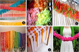 Room Decorating With Paper Similiar Crepe Paper Decorating Ideas Keywords