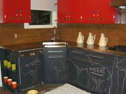 Kitchen Cabinets Painted Red Red Painted Kitchen Cabinet Stainless Steel Countertop Integral