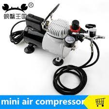 mini air compressor 220v portable piston silent compressor for airbrush spray painting pump