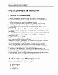 Sample Warehouse Resume Sample Warehouse Resume Fresh Warehouse Manager Resume Sample 24