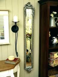 wall mirrors narrow wall mirrors tall mirror silver ornate rose large long mirr