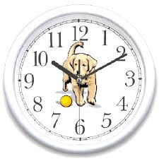 clocks dog breed wall clock novelty