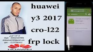 <b>huawei y3 2017 cro</b>-l22 frp lock bypass google account frp reset ...