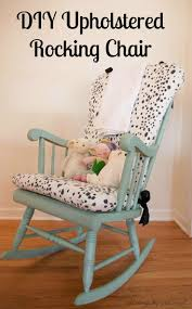 A step-by-step custom DIY Upholstered Rocking Chair tutorial that only cost  $100
