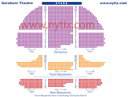 Gershwin Theatre Seating Chart View Seating Chart For Gershwin Theater Five Mind Numbing Facts