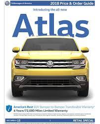 2018 volkswagen order guide.  volkswagen 2018 vw atlas order guide  page 1 for volkswagen order guide
