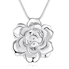 whole 2016 new design 925 silver flower pendant necklace fashion jewelry party beautiful style and good quality love necklace diamond heart necklace