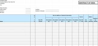 Free Construction Bid Proposal Form Template Estimate Sample Sheet ...