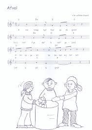 Liedje Afval Thema In Huis Opruimen Recycling School En