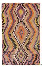 multicolor vintage esme kilim rug
