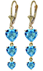 image is loading 14k solid rose gold chandelier earrings with blue