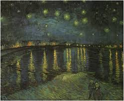 starry night by vincent van gogh starry night over the rhone by vincent van gogh