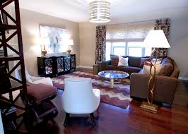 brown and purple living room
