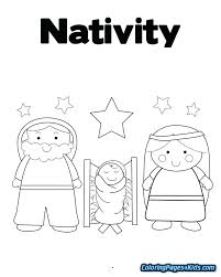 Printable Christmas Nativity Coloring Pages Pokemon Coloring Sheets