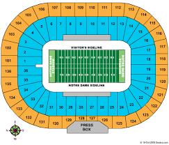 Notre Dame Stadium Seat View Elcho Table