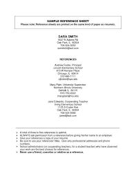 Resume Reference Page Template | Musiccityspiritsandcocktail.com